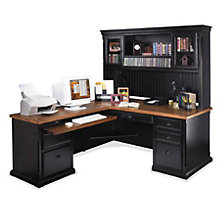 Southampton Onyx L-Desk with Hutch with Left Return, OFG-LD1045