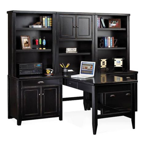 Black Home Office Furniture tribeca loft home office desk setmartin | officefurniture