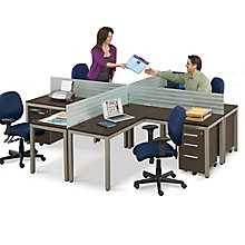 At Work Four Person Compact Workstation Set, 8808083