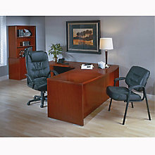 Left L-Shaped Desk with Bow Top, 8827157