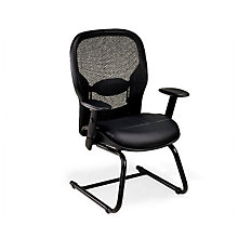 Bonded Leather Seat and Mesh Back Guest Chair, 8802901