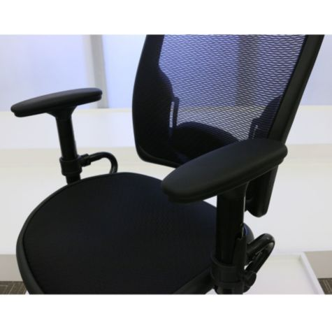 Height adjustable arm rests show raised