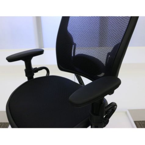 Height adjustable arm rests show lowered