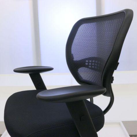 Adjustable armrests lowered