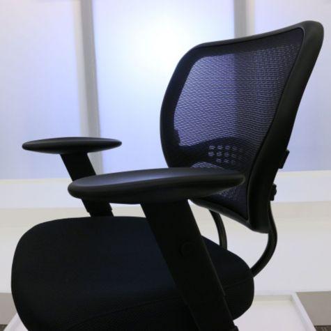 Adjustable armrests raised