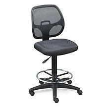 Stool w/Mesh Back adj Footrest, OFF-10738