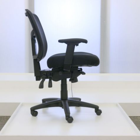 Adjustable seat depth shown forward