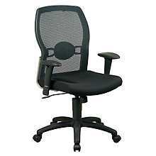 Set of 4 Fabric and Mesh Conference Chairs, 8804220