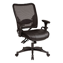 Mesh Back Leather Ergonomic Task Chair, OFF-6876
