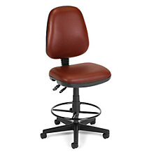 Antimicrobial Vinyl Drafting Stool, OFM-119-VAM-DK
