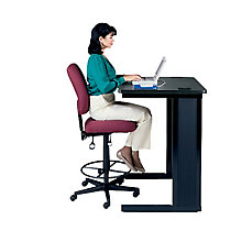 Ergonomic Armless Drafting Chair, OFM-118-2-DK