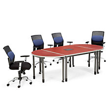 "Mesa Series Oval Conference Table - 96"" x 48"", OFG-CT0037"