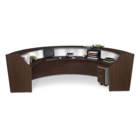 Optional Mobile Pedestal shown with Reception Desk