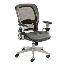 Space Series Matrex Mesh Back Task Chair with Leather Seat, OFF-2662A
