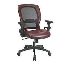 Mesh and Leather Ergonomic Computer Chair, OFF-2664