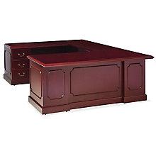 Traditional Wood Veneer U-Desk in Left or Right Return, 8827109