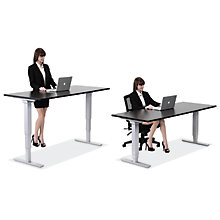 "SitStand Adjustable Height Desk - 66""W x 30""D, 8822603"
