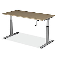 "SitStand Adjustable Height Desk - 72""W x 30""D, 8822604"