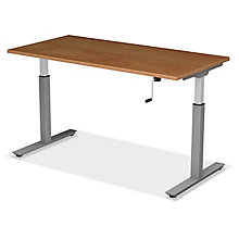 "SitStand Adjustable Height Desk - 66""W x 24""D, 8822599"