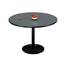 "Round Breakroom Table with Round Base - 42"" Diameter, PHX-LR42RDWCR"