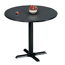 "Round Breakroom Table with X-Base - 36"" Diameter, PHX-LR36RDWCX"