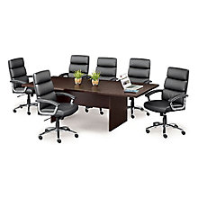 Faux Leather Conference Chairs   Set Of Six, 8804313
