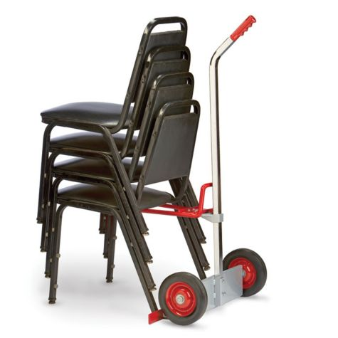 Maneuvers items like stacked chairs