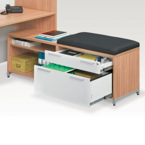 Full-extension locking drawers