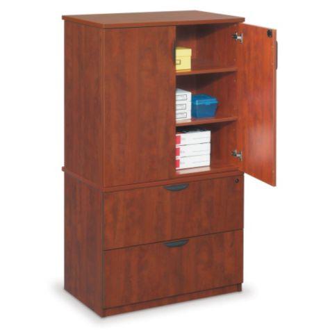 Cabinet shown with door open.