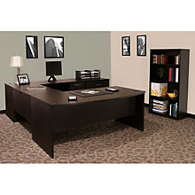 Sandia U-Desk with Lateral File and Bookcase, OFG-UD1063