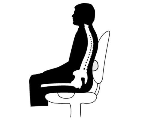 Built-in lumbar support and sculpted seat offer co