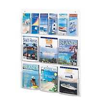 Economical Clear Plastic Twelve Pocket Magazine and Pamphlet Rack, 8828224