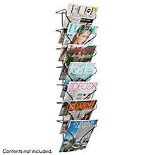 Seven Pocket Wall-Mounted Magazine Rack, 8828226