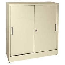 Counter Height Sliding Door Storage Cabinet, SAN-S361842