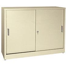 Desk Height Sliding Door Storage Cabinet, SAN-S361829