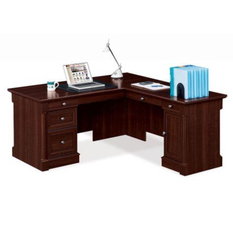 Inside view of L-desk