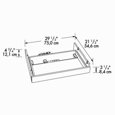 laptop drawer dimensional drawing