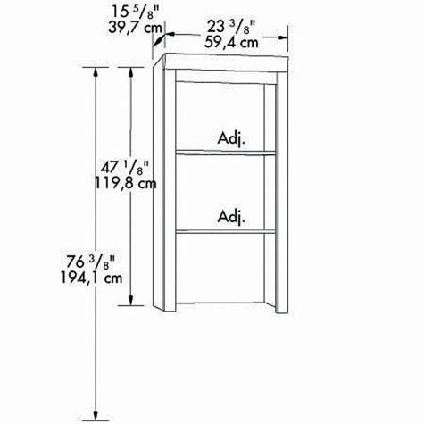 Bookcase hutch dimensions