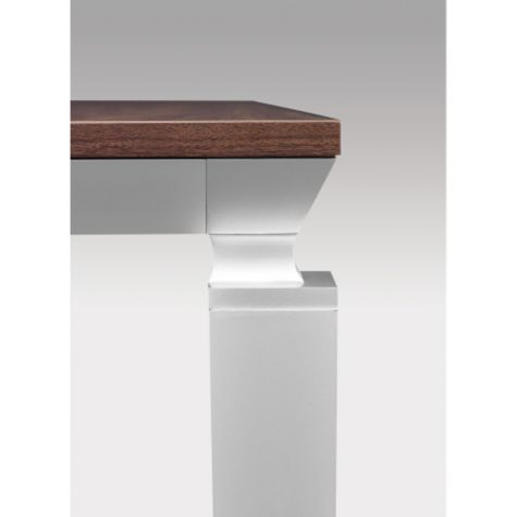 Tapered cornices add a graceful touch