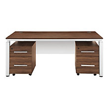 Double Pedestal Executive Desk with Modesty Panel, OFG-DS0059