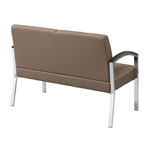 Back view of loveseat (with Cocoa arms)
