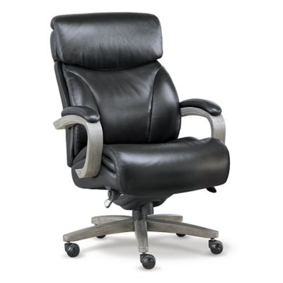 La Z Boy Revere Big And Tall Executive Office Chair In Top Grain Leather,