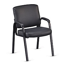 Padded Arm Guest Chair in Faux Leather, 8802438