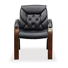 Traditional Guest Chair in Faux Leather, 8827875