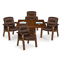 Wood Frame Guest Chair - Set of Four, 8823835