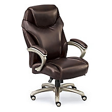 Big and Tall Chair with Memory Foam in Leather and Mesh , 8801386