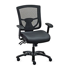 24/7 Mesh-Back Chair with Leather Seat, 8827558