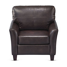Cushioned Club Chair in Faux Leather, 8802554