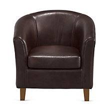 Curved Back Club Chair in Faux Leather, 8802555