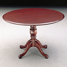 "Traditional Mahogany Laminate 48"" Round Conference Table, OFG-CT0025"